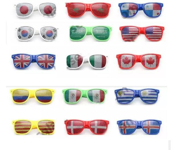 2019 National World Cup Flag Retro Sunglasses Game Glasses Party