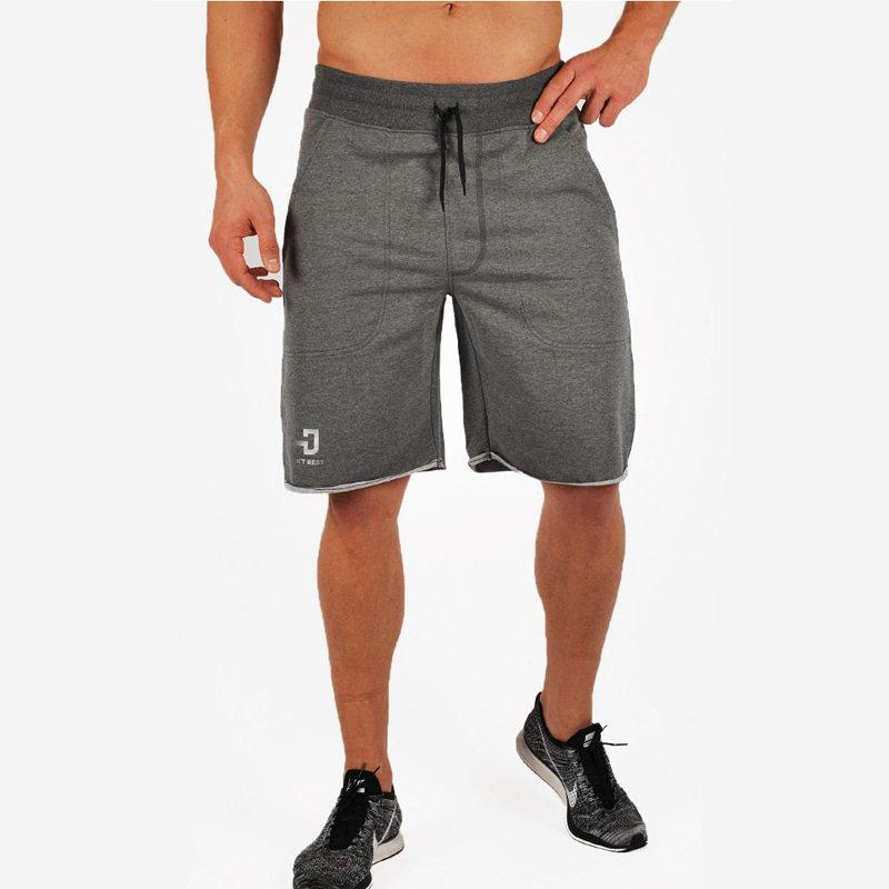 2e25ab0955c 2019 Men Gym Fitness Cotton Shorts Run Jogging Sports Fitness Bodybuilding  Calf Length Sweatpants Male Profession Workout Short Pants From Bluelike