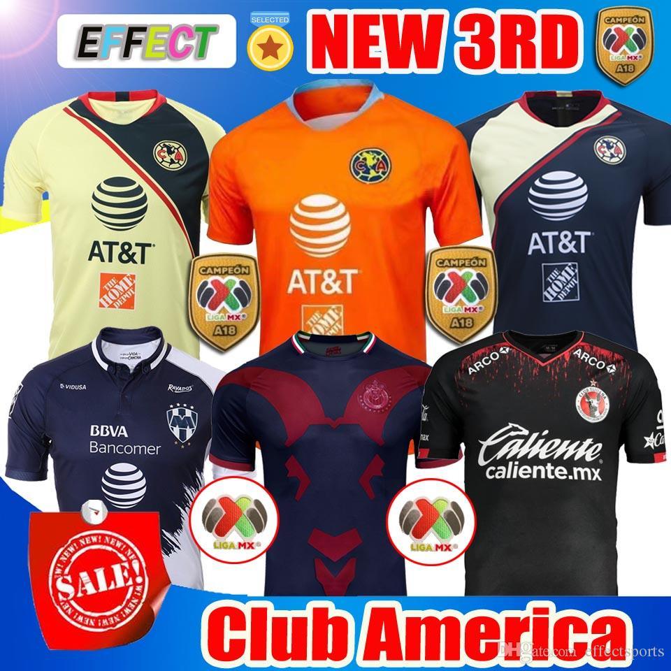 53d1309b7 ... official 2019 2018 2019 mexico liga mx club america soccer jerseys home  18 19 apertura a18