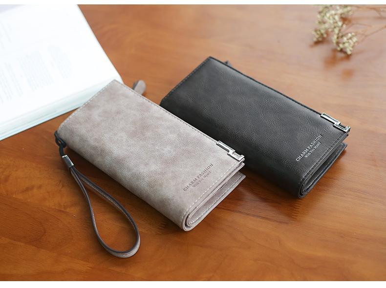 Vintage Money Bag Big Wallet Women Leather 2018 Purse Women Zipper Phone Wallet Ladies Long Clutch Bag Card Holder Wristlet Bag