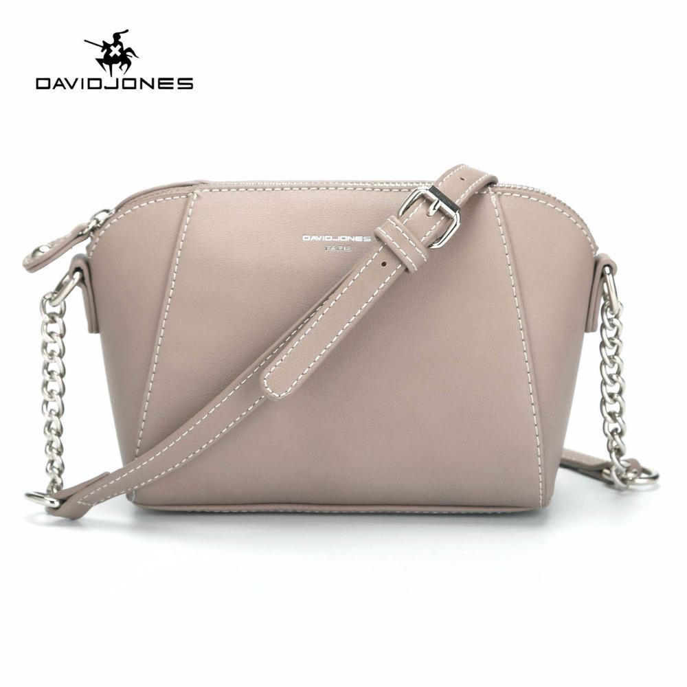 DAVIDJONES Women Messenger Bags Pu Leather Female Crossbody Bags Small Lady  Chain Shoulder Bag Girl Brand Handbag Drop Shipping Weekend Bags For Women  ... ad6e2afc255bb