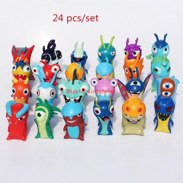 New 24pcs/set Anime Cartoon 5CM Slugterra action pvc figure collectible model toy Great Gift Phone Accessories
