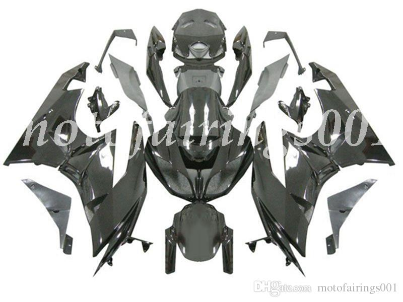 Qualité OEM New ABS carénages moule d'injection kits Fit for Kawasaki Ninja ZX-6R 2009 2010 2011 2012 09-12 Carrosserie All Black mis