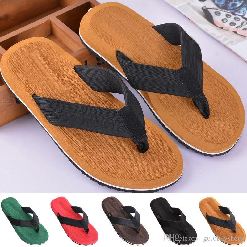 033cf446198 Compre SHUJIN Baño Para Hombre Sandalias De Playa Zapatillas De Deporte  Equilibrio Para Hombres Zapatos Para Nadar Zapatos Para Agua Para Hombres  Planos Con ...