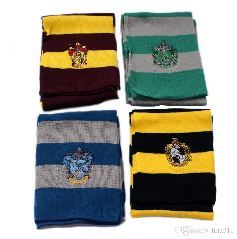 7e1e7bc395e 4 Colors winter Scarves College Scarf Harry Potter Scarves Gryffindor  Series Scarf With Badge Cosplay Knit Scarves Halloween Costumes.