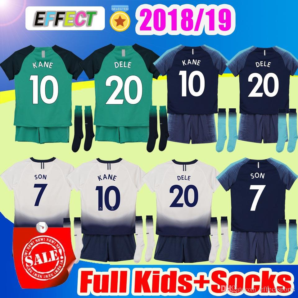 a81c5025e Compre 18 19 Tottenham Hotspur KANE Crianças De Futebol Jerseys Kits 2018  2019 Spurs Filho Alderweireld Eriksen Dele HOME Criança Menino Futebol  Camisas ...