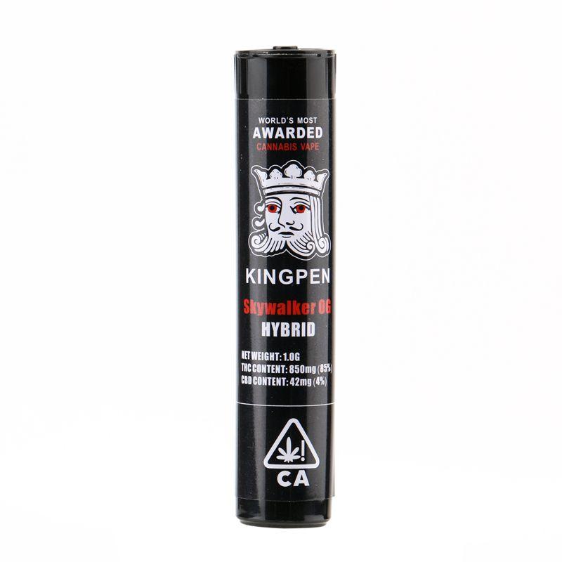 KP LOGO Flavor Stickers Tube Packaging Empty Kingpen 710 Glass Tank Thick  Oil Vaporizer Vape Pen 510 Cartridges Atomizer