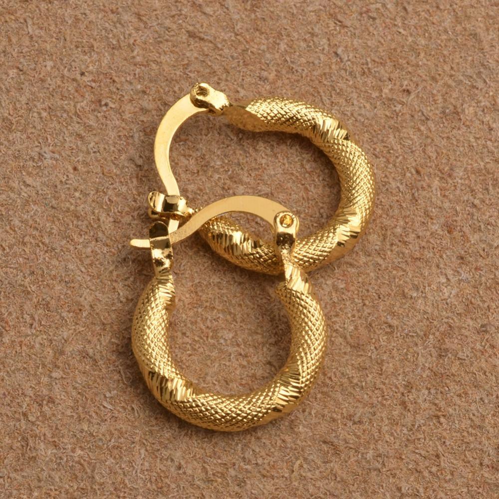 Anniyo أقراط الذهب اللون الصغيرة مسمار للنساء / بنات ، حزب مجوهرات العصرية العربية الأفريقية ، أمريكا الجنوبية هدية # 008116