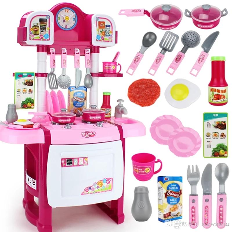 Children S Kitchen Toys Emulation Cooking Baby 7 Family 4 Girls 5