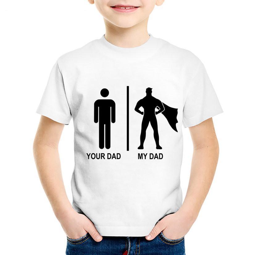57fecb8b49cc7 Acheter Mode D impression Mon T Shirt Enfants Super Papa Enfants Enfants  Journée Des Pères D été Tee Shirts Garçons   Filles Occasionnels Tops  Vêtements De ...