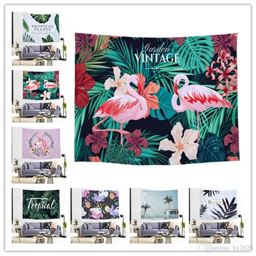 26 Styles Ins print room decoration tapestry lucky elephant flamingo mandala background cloth tapestry tarpaulin ST381