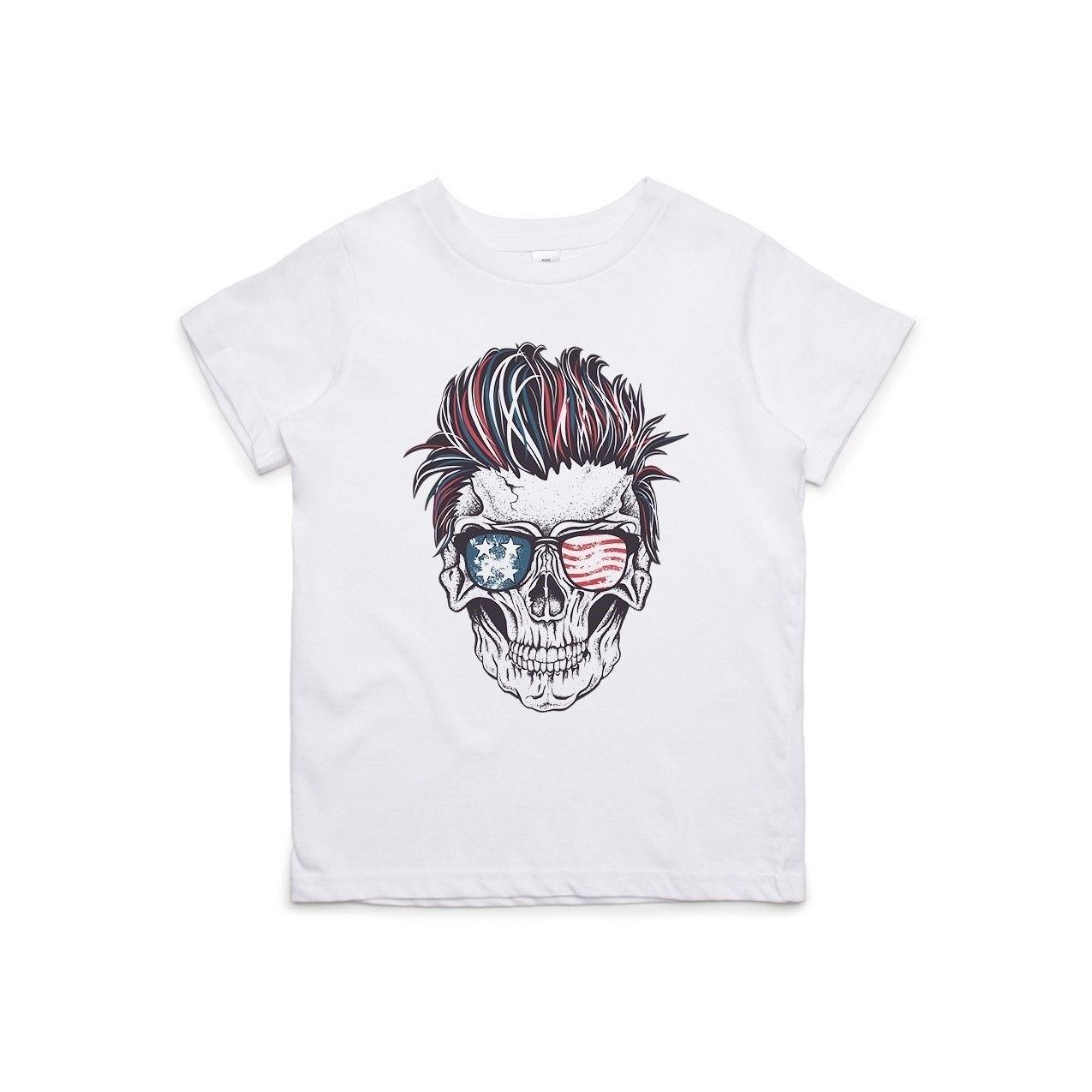 e00d3fe9 Patriotic Rocker Skull Kids T-Shirt Cool xxxtentacion marcus and martinus  tshirt discout hot new top free shipping