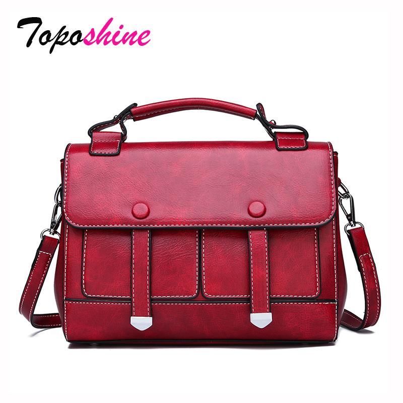 ae4e29f5ac51 Toposhine Retro Postman Small Square Bag Female New Fashion High Quality  Handbag Casual Wild Shoulder Messenger Bag Duffle Bags Messenger Bags For  Men From ...
