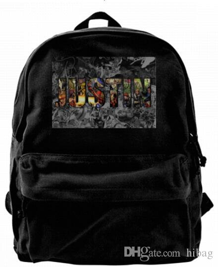0db1eed2c SUPER HERO Comic Personalized Fashion Canvas Designer Backpack For Men &  Women Teens College Travel Daypack Leisure Bag Black Mesh Backpack Justice  ...
