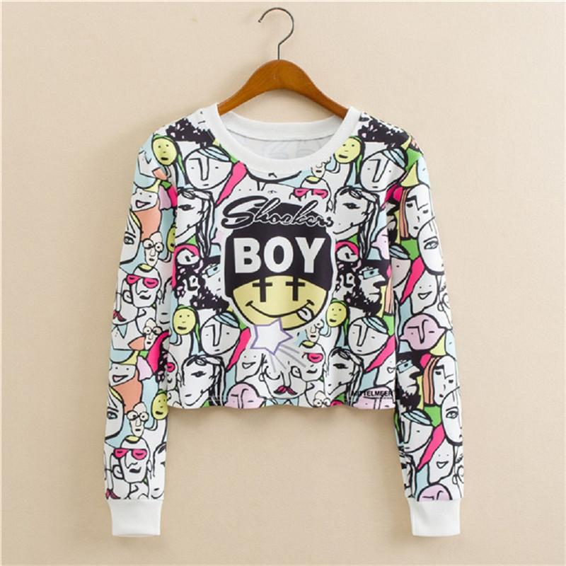 b7a21a501a Harajuku Plain Women Sweatshirts Hoodies Pull Femme Pullover Female Cropped Hoodie  Long Sleeve Tube Crop Tops Sudadera Mujer Online with  32.74 Piece on ...