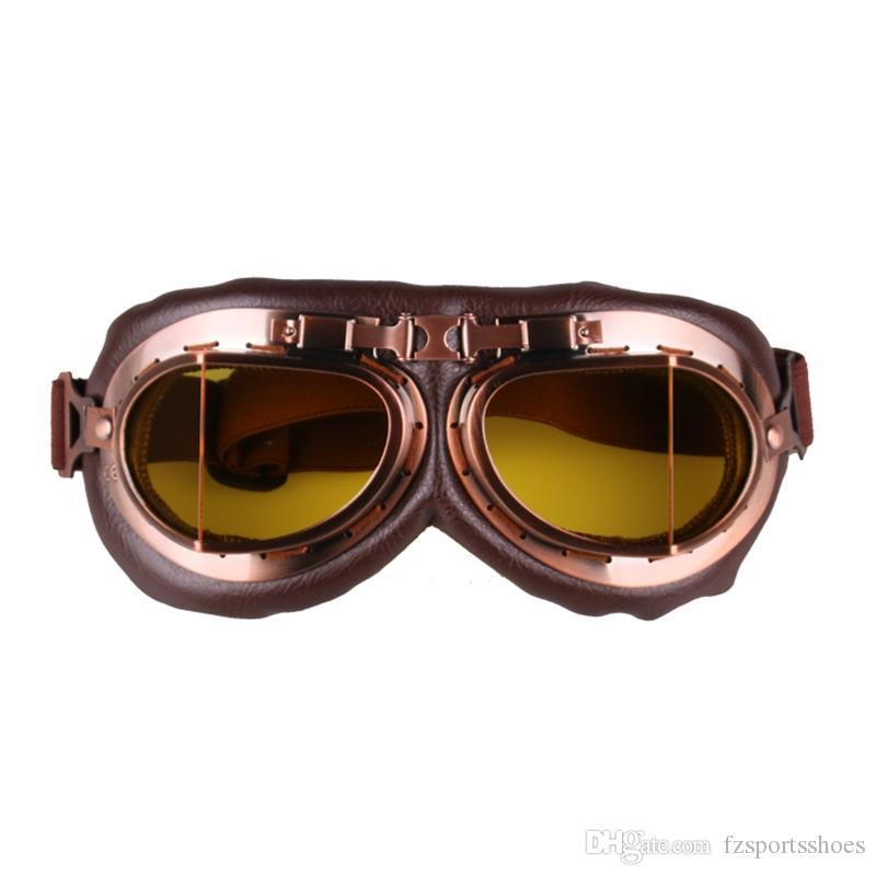 c4bea6bf61 2019 Motorcycle Goggles Glasses Vintage Motocross Classic Goggles Retro  Pilot Pilot Cruiser Steampunk Atv Bike Uv Protection Copper  182050 From ...