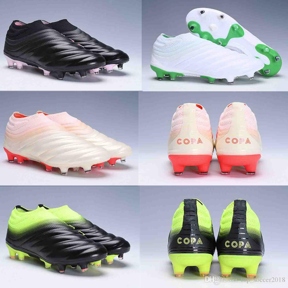 532d0ed34 2019 original Best Brand Mens Copa 19+ Mundial FG Soccer Cleats FG Leather  Soccer Shoes World Cup Football Boots