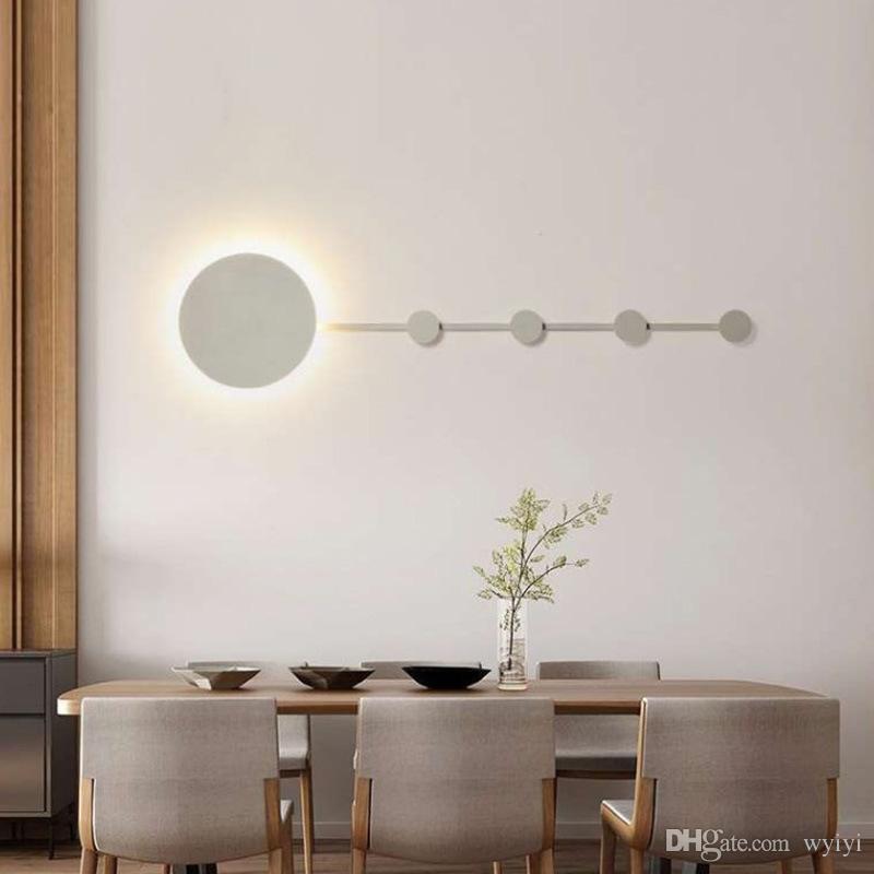 Postmodern Led Wall Lamp Nordic Designer Living Room Decorative Wall Light Creative Corridor Bedside Bedroom Lighting Fixtures Sales Of Quality Assurance Lights & Lighting