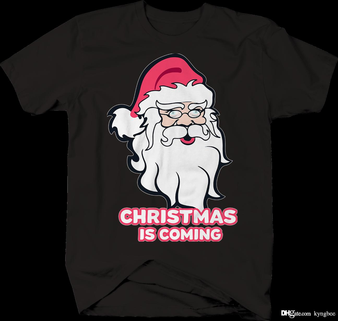 4731c4b7c Christmas Is Coming Winter Santa Claus T Shirt Online T Shirts Funky T  Shirts From Kyngbee, $10.72| DHgate.Com