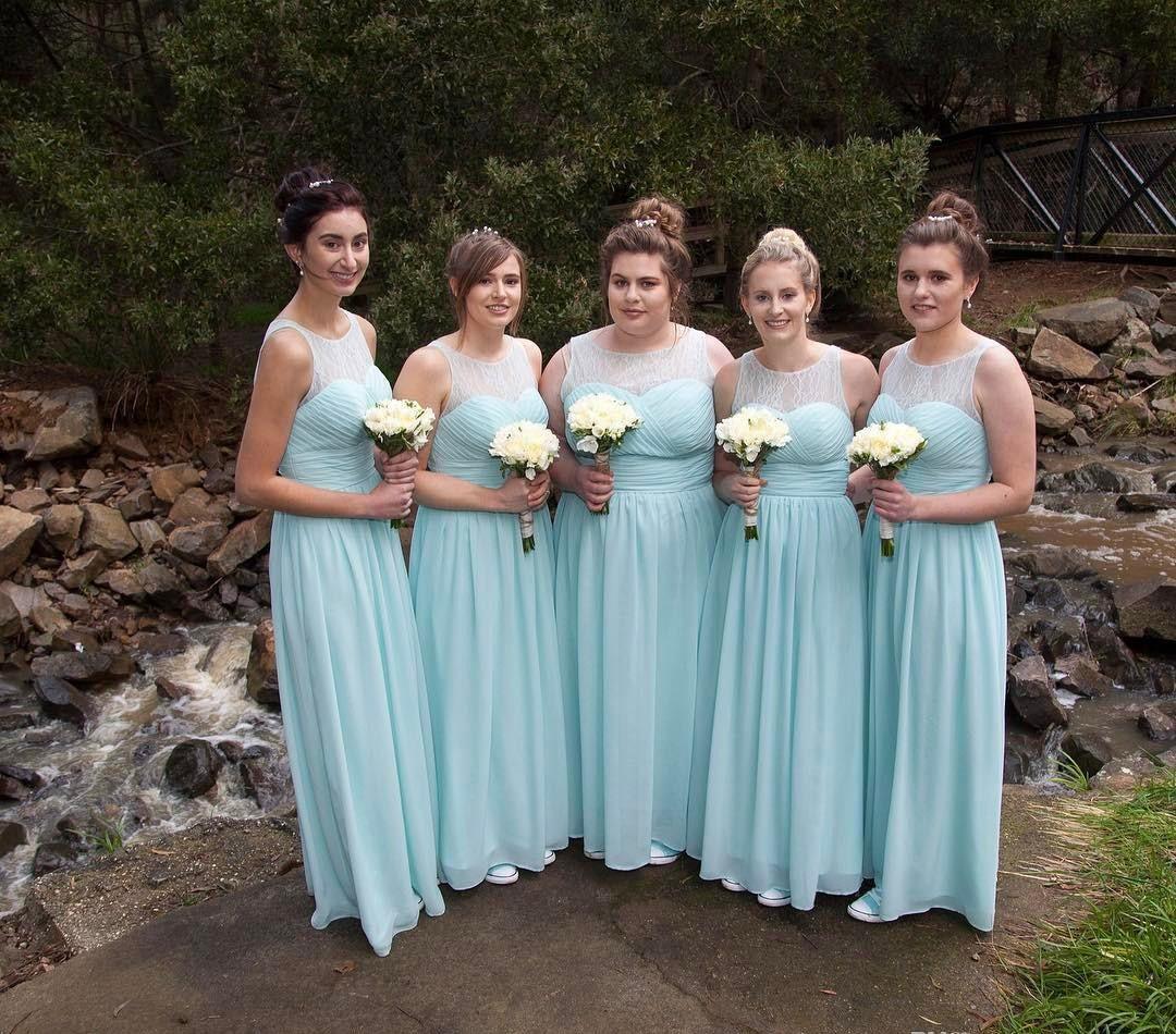 Vintage Wedding Dresses Canada: 2019 Bridesmaid Dresses Mint Green Bohemian Summer Country