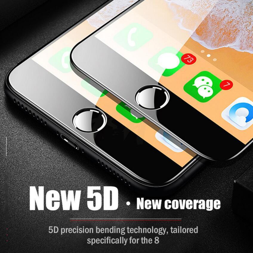 5784a8b8601 Protector De Pantalla Cristal 5D Vidrio Templado Para Iphone 7 Glass 6 S  Más Protector De Pantalla Para IPhone 6 Glass Full Cover Film Borde Curvo  Protector ...