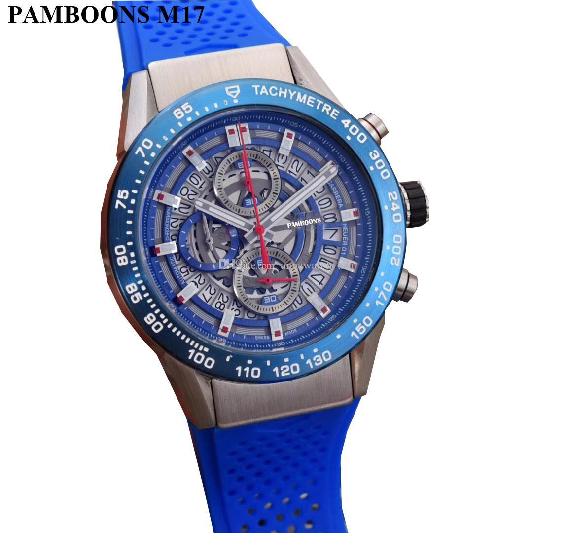 6c8928abdee Compre Nova Moda De Luxo Da Marca Relógio Suíço Relógio De Couro Automático  Dos Homens Relógio De Pulso Dos Homens De Aço Mecânico Relógios Relogio ...