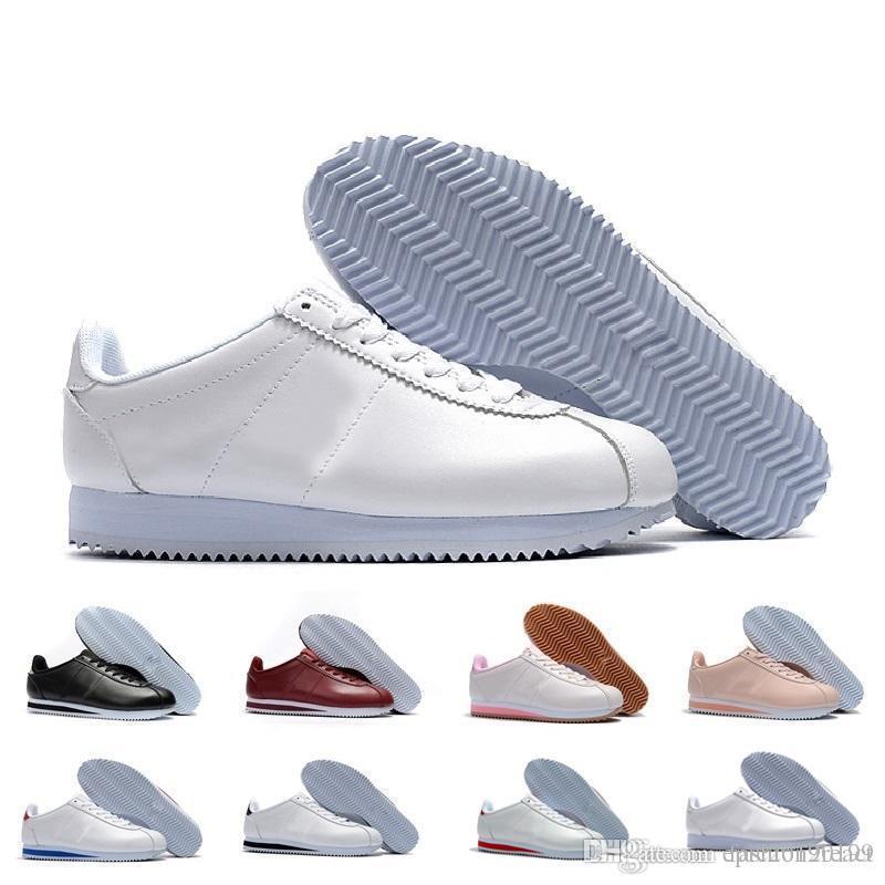 pretty nice dbe52 178b4 Acheter Nike Cortez 2019 Cortez Chaussures Hommes Femmes Chaussures De Sport  Baskets Pas Cher En Cuir Original Cortez Ultra Moire Chaussures De Marche  Vente ...