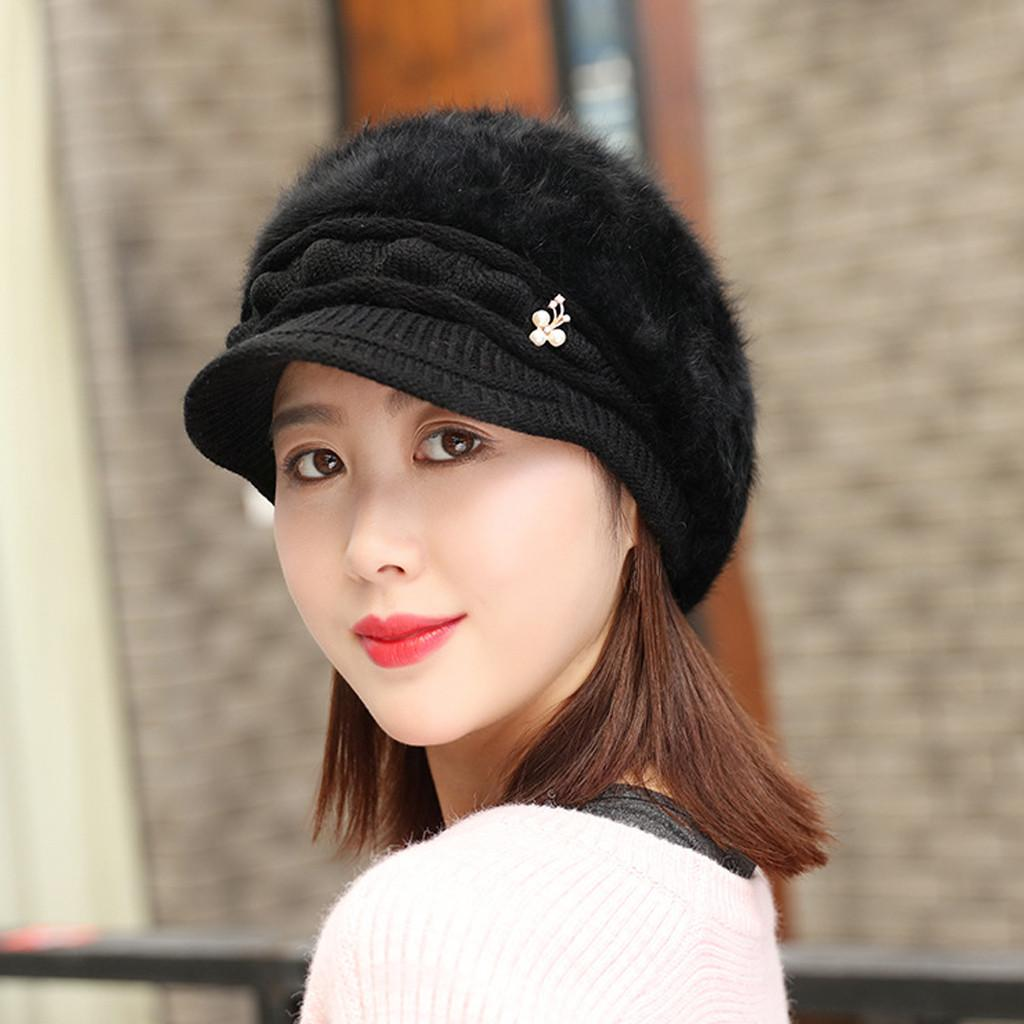 2019 2019 Fashion Hat Women Solid Knitted Hat Winter Warm Beret Baggy Beanie  Slouch Ski Cap Hot Sale From Granthill 32f776a8c1a3