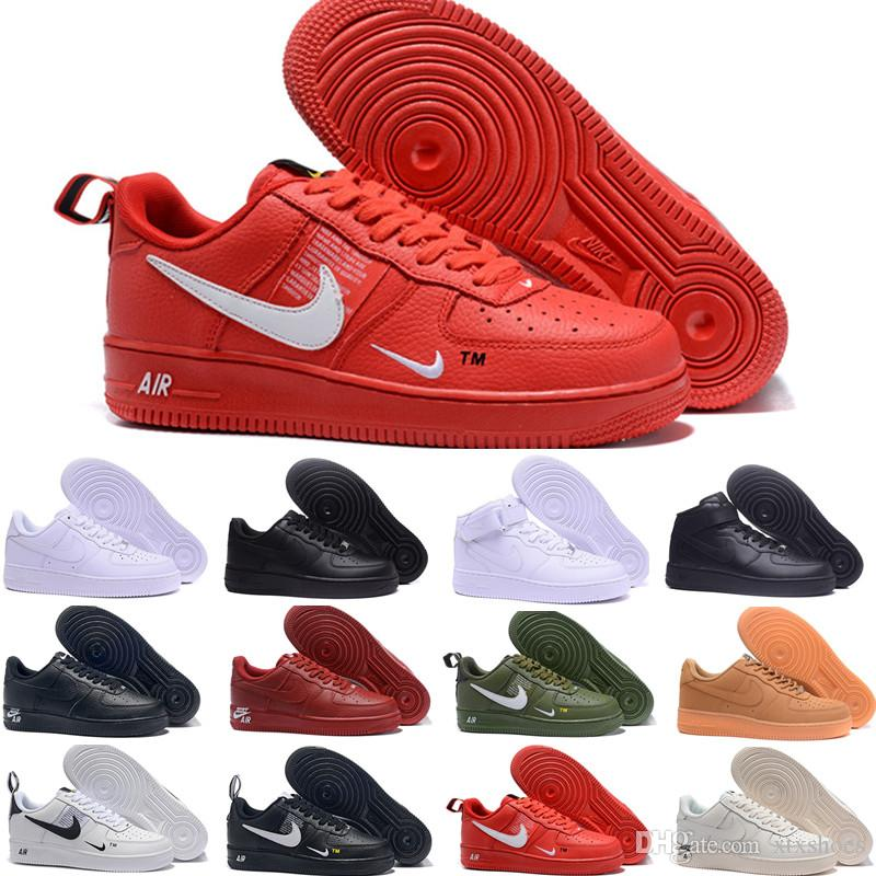 Wholesale 10X Forces Low Airs Cushion 1 One Running Shoes for Men The Pure White Sports Trainer Women Designer Shoes K-524