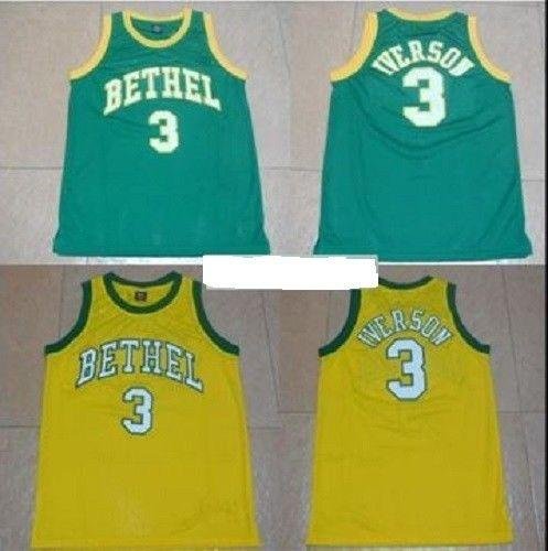 Cheap Custom Allen Iverson  3 Bethel High School Basketball Jersey Stitched  Customize Any Name Number MEN WOMEN YOUTH JERSEY XS 5XL UK 2019 From ... 0004807f2