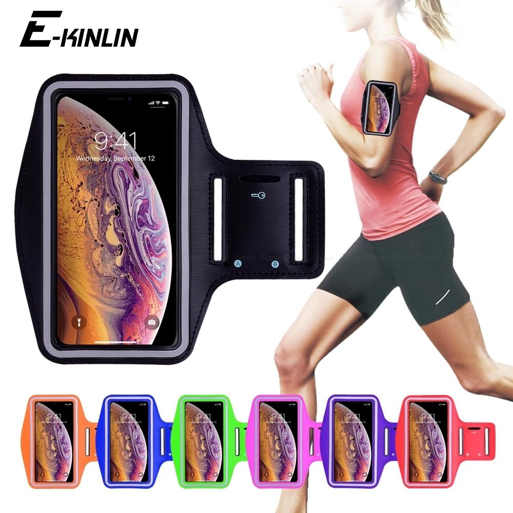 c58c1275e62 Compre Esportes À Prova D 'água Correndo Treino Gym Braço Banda Case Para  Iphone Xs Max Xr X 10 8 7 6 6 S Plus Se 5 5S 4 4 S Bolsa ...