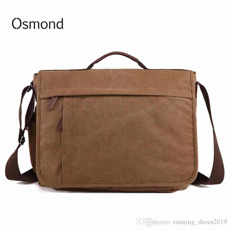 f2c27c4f04 2018 Brand Large Capacity Canvas Male Briefcase Business Laptop Bag Vintage Shoulder  Crossbody Bag For Men Messenger Bags Bolsa  30603 Designer Handbags ...