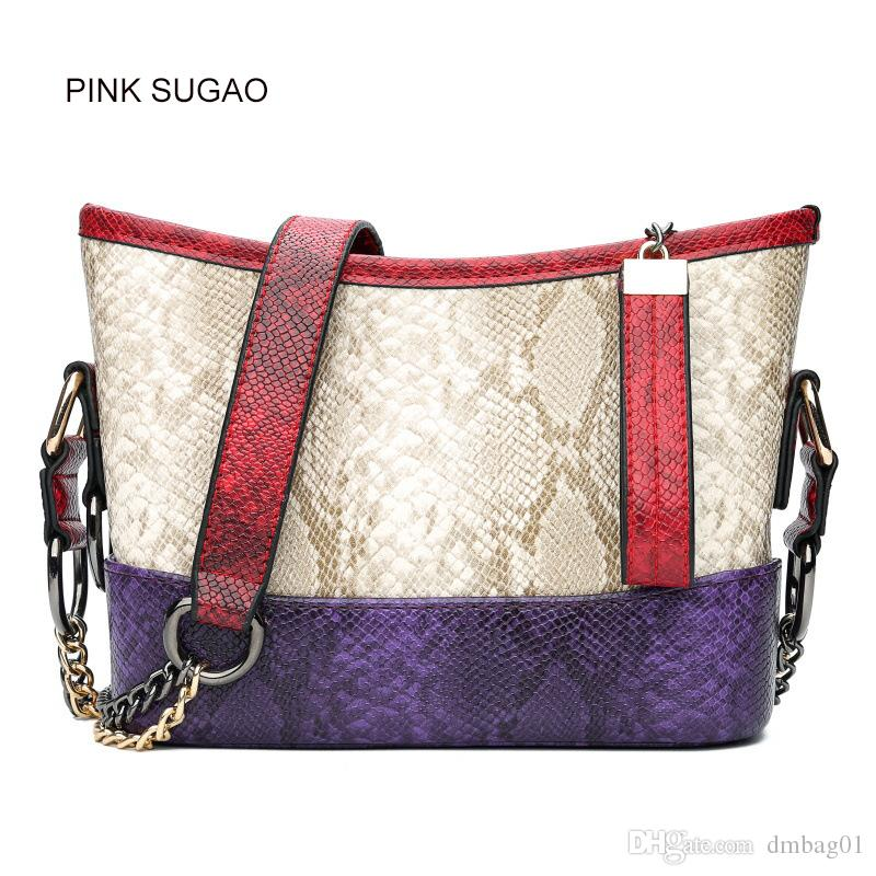 Pink sugao designer women shoulder handbag luxury fashion leather shoulder bag mini casual bags famous brand two-tone crossbody bag for lady