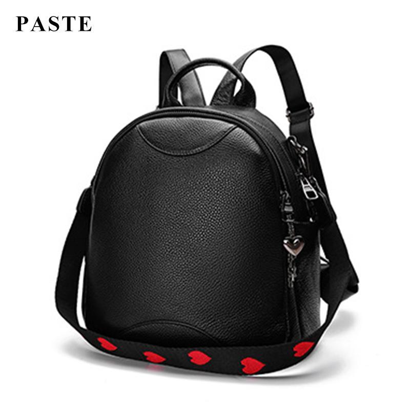 Ladies  Genuine Leather Backpack Fashion Shoulder Strap Women Bag 2018 New  Back Pack Cow Leather Shoulder Bags Clutch Female Sac Rucksack Jansport  Backpacks ... a24c7151ddf98
