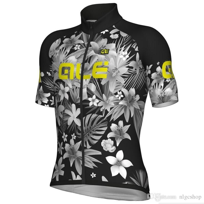 New 2019 ALE Men Cycling Jersey Summer Mtb Bike Clothing Bicycle Short Sleeves shirts Maillot Ciclismo Sportswear 623615A