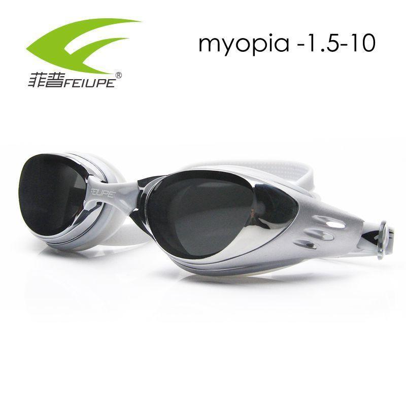 d971eeae5 Compre FEIUPE Óculos De Natação Profissional Miopia Diferente Silicone  Subaquática Óculos Hd Dioptria Anti Nevoeiro Homens Mulheres Adultos  Crianças ...