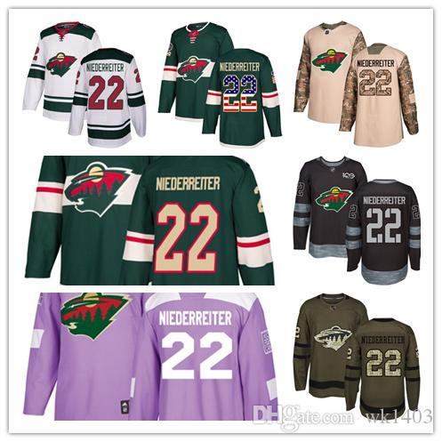 Minnesota Wild Jerseys  22 Nino Niederreiter Jersey Hockey Men Women Youth  Authentic Green Home White Away Stiched Fanatics USA FLAG Jerseys Nino ... 3ed61afa981