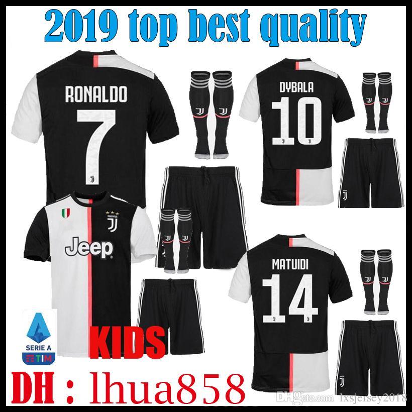 112375669174c 2019 Kids Kit 19 20 Thailand RONALDO Juventus Soccer Jerseys DYBALA ...