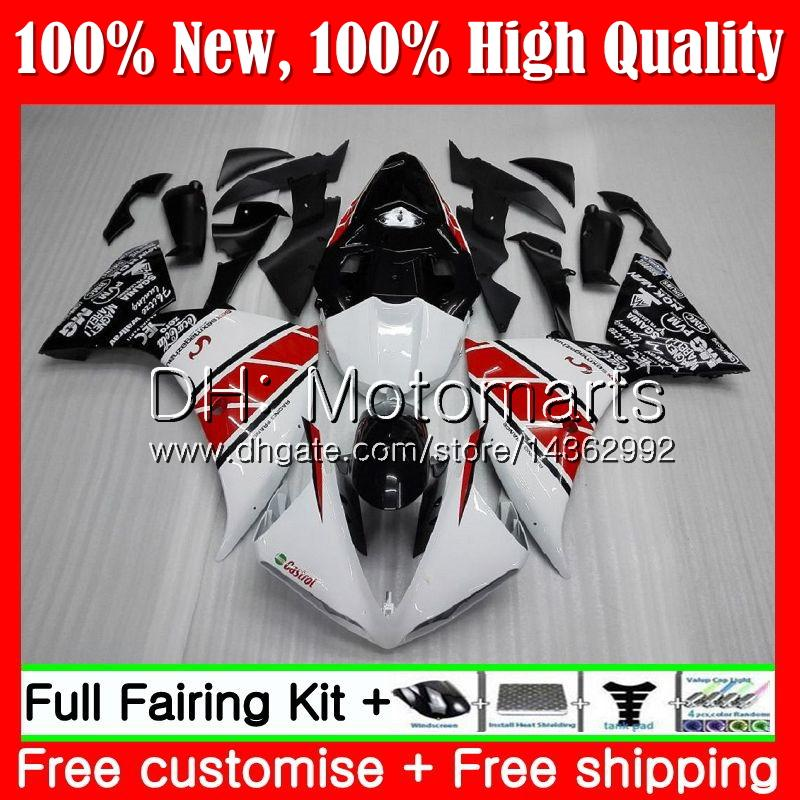 Body For YAMAHA Red white blk YZF 1000 R 1 YZF-1000 YZFR1 09 10 11 12 99MT3 YZF R1 09 YZF1000 YZF-R1 2009 2010 2011 2012 Fairing Bodywork