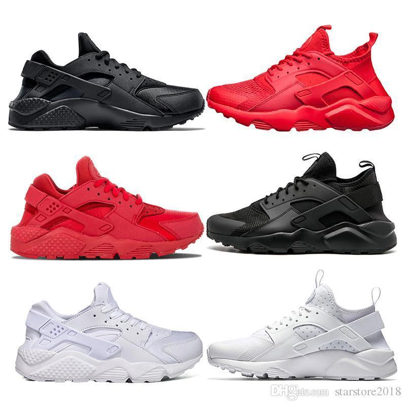 Shoes huarache Running Air Luxury Mens Womens Designer black white Triple black white red rose gold yellow white sports Sneaker Size 36-45