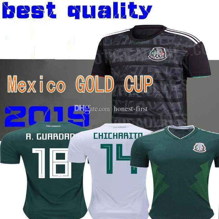 8be9f922a 2019 2019 Mexico GOLD CUP Black KIT Soccer Jerseys 2018 World Cup Home Away  CHICHARITO Camisetas De Futbol H.LOZANO G.DOS SANTOS Shirts From Honest  First