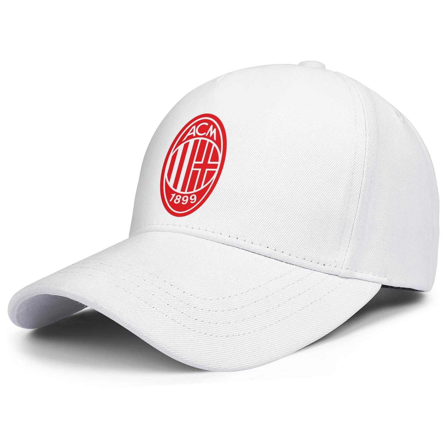 A.C. Milan I Rossoneri l Diavolo ACM red white mens and women trucker cap baseball styles custom mesh hats