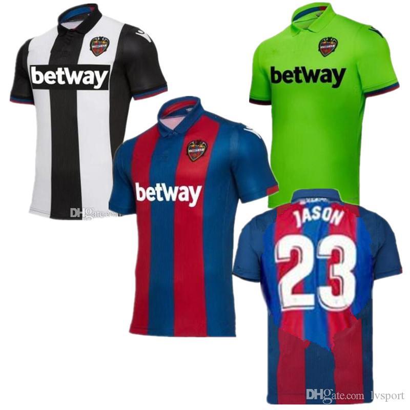 Compre 18 19 Levante Unión Deportiva ROGER MS Casa Camisas De Futebol A.J.  MORALES BARDHI JASON 3RD Camisolas De Futebol RAPHAEL PRCIC Fora Uniformes  De ... d9ed62ec473