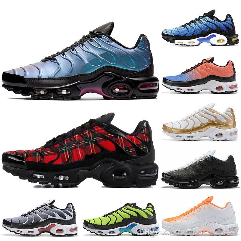 Nike air max Plus TN plus shoes Livraison Gratuite Nouveau Chaussures Hommes Sneakers Respirant Air Cusion Chaussures De Course Nouvelle Arrivée