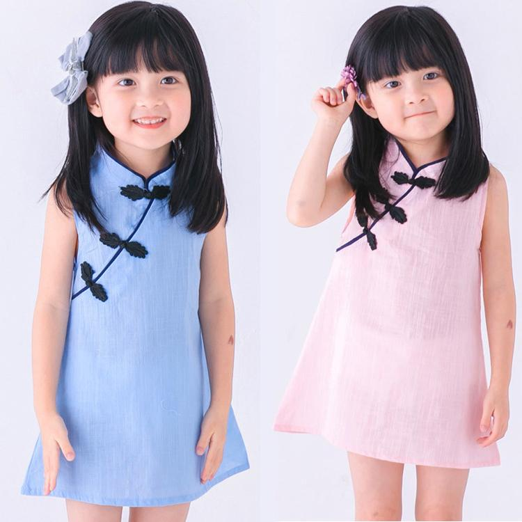 964ffce07 2019 Kids Designer Clothes Girls Summer Princess Dresses Kids Sleeveless  Cheongsam Chinese Style Clothes Fashion Girls Dresses DHL JY12 From  Gift_01, ...