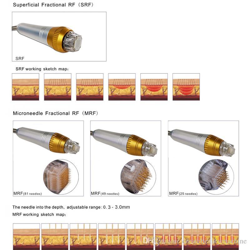 Fractional rf microneedle Machine micro needle fractional galvanic face lifting microneedle rf Stretch Marks Removal equipment