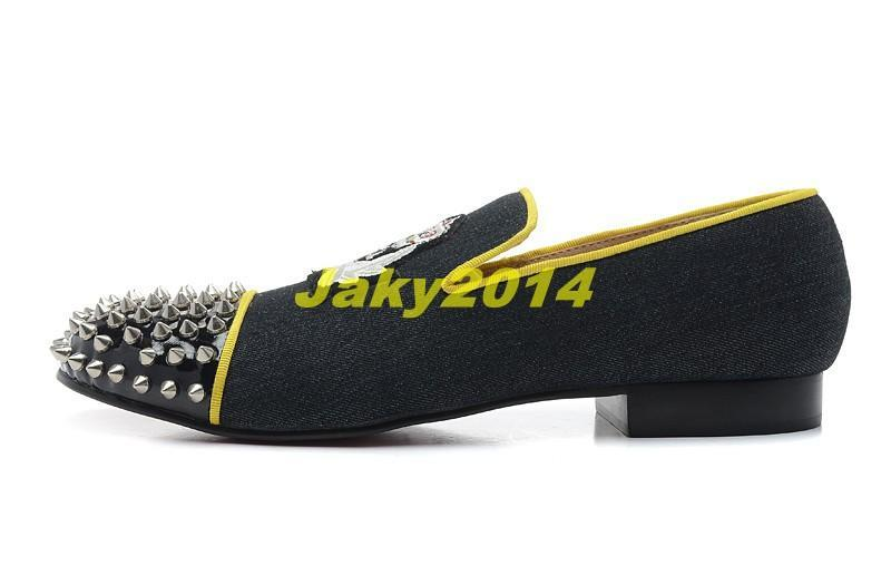 5ab4933f9a9e Classic Elegant Loafers Party Shoes Without Shoelace Spooky Flat For Mens  Womens Red Bottoms Spiked Toe Wedding Sneakers Dynodent Men s Shoes Fashion  Shoes ...
