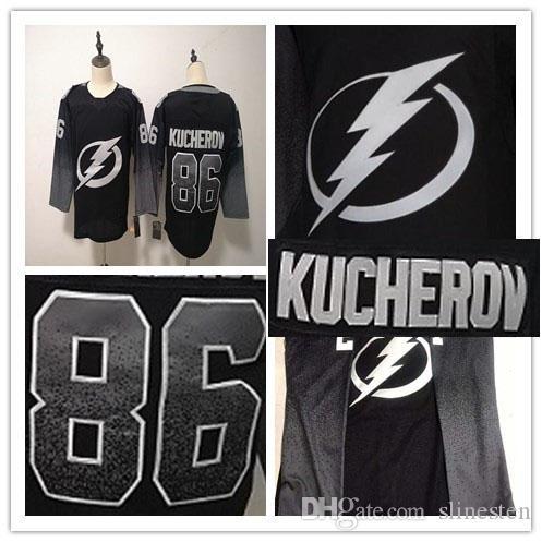 online store e0456 3bf57 2019 2019 New Hockey Tampa Bay Lightning Black Alternate Jersey 86 Nikita  Kucherov Size S 3XL From Slinesten,  23.29   DHgate.Com