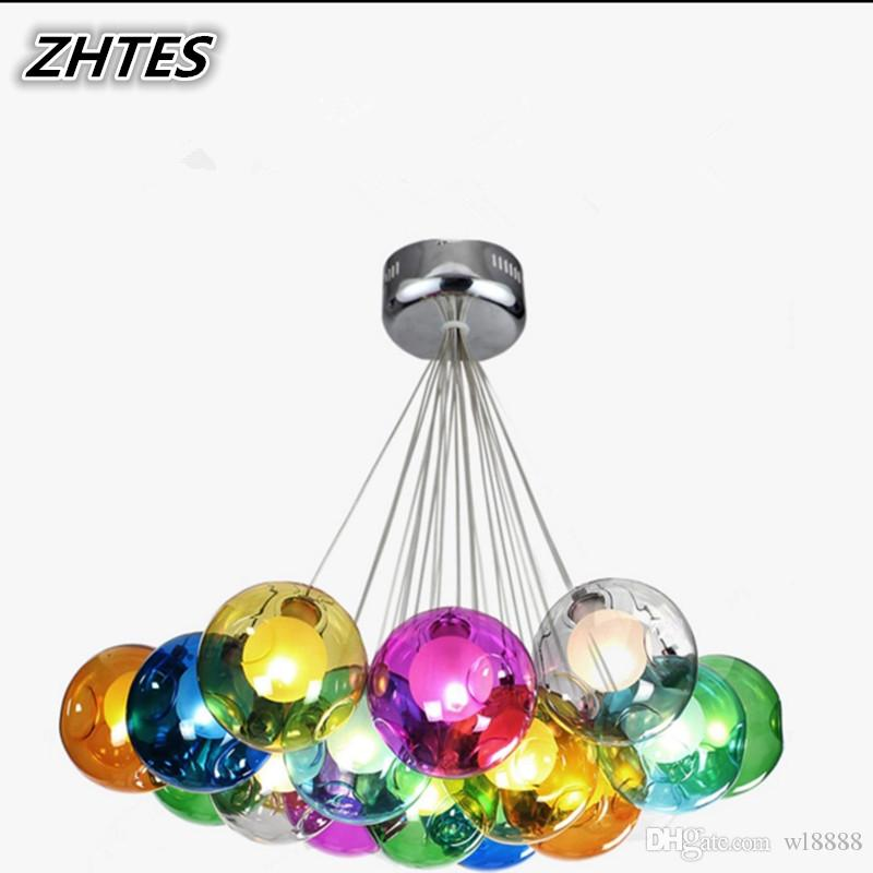 2019 New Style Postmodern Led Chandeliers Lighting Nordic Deco Luminaires Glass Ball Fixture Living Room Hanging Lights Bedroom Suspended Lamps Sufficient Supply Chandeliers