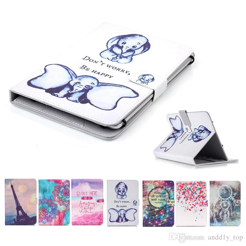 Cartoon Printed Universal 7 inch Tablet Case for Huawei MediaPad T3 M2 7.0 Cases kickstand PU Leather Flip Cover Cases